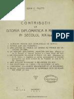 Contributii La Istoria Diplomatica a Romaniei in Secolul Al XIX-lea - Ioan C. Filitti