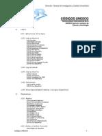 Codigos Unesco
