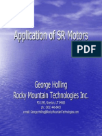Application of SR Motors