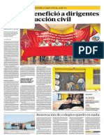 Álvarez benefició a dirigentes de construcción civil