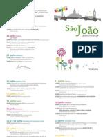 Programa das Festas de S. João 2014