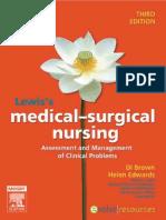 Lewis MedSurgical Nursing 3e BrownEdwards 9780729539951