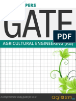 GATE Solved Question Papers for Agricultural  Engineering [AG] by AglaSem.Com