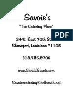 savoies wedding package