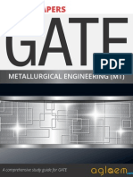 GATE Solved Question Papers for Metallurgical Engineering [MT] by AglaSem.Com