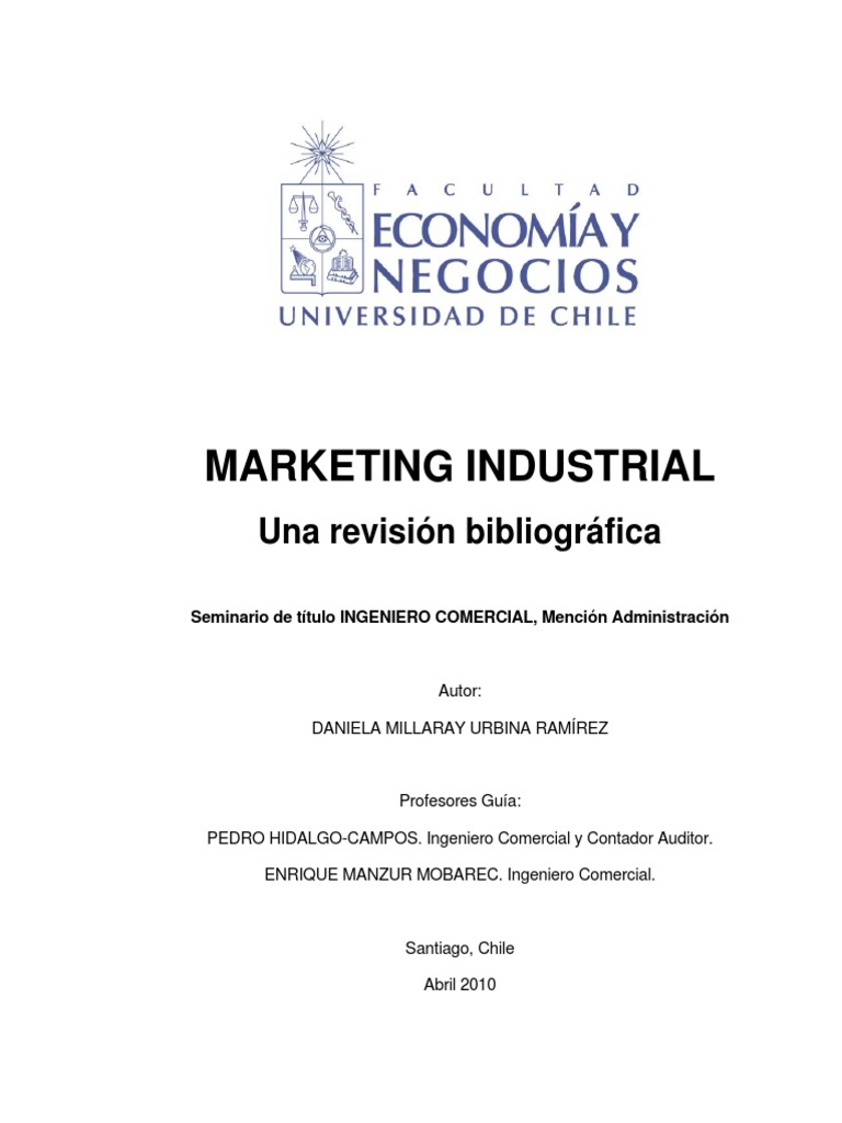 Marketing Industrial Tesis
