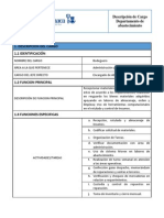 Formato Descripcion Del Cargo Bodeguero