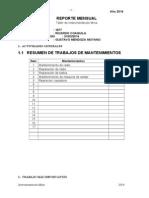 Reporte Mensual de Abril Año 2014