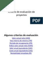 11 Criterio de Evaluación de Proyectos