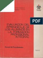 Evaluacion Del Aprendizaje de Los Alumnos 1990 SENA