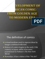 development of american comic from golden age to modern era