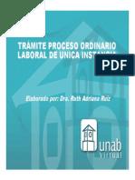 Tramite Proceso Ordinario2012