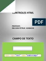 Controles HTML