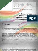 Recomendaciones  Foro Regional Juventudes LAC 2014