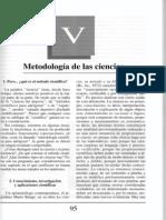 Nuevo Curso de Lógica y Filosofía - Guillermo A. Obiols - Capítulo V - M etdología de las ciencias