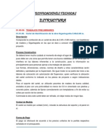 Especificacion Tecnica Estructura