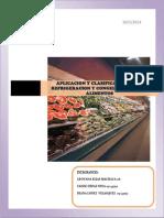 Aplicacion y Clasificacion de La Refrigeracion y Congelacion de Los Alimentos