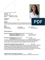 Christy De Voy Yachting/Production Resume