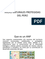 Areas Naturales Protegidas en El Perú