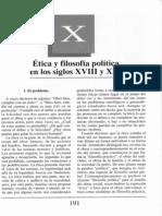 Nuevo Curso de Lógica y Filosofía - Guillermo A. Obiols - Capítulo X - Ética y filosofía política en los siglos XVIII y XIX