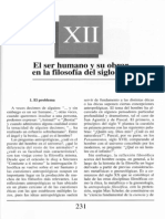 Nuevo Curso de Lógica y Filosofía - Guillermo A. Obiols - Capítulo XII - El ser humano y su obrar en la filosfía del siglo XX