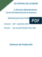 Administracion de La Produccion II - 21 Mayo 2014