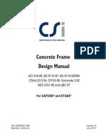 Concrete Frame Design for ETABS