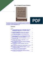 Physical Properties of Asphalt Cement Binders