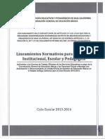 Lineamientos Isep 2013 2014 2