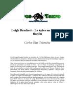 Saiz Cidoncha, Carlos - Leigh Brackett _ La Epica en La Ciencia Ficcion