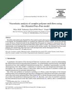 Viscoelastic Analysis of Com-plex Polymer Melt Flows Using the EXtended PomÔÇôPom Model - J.N.N.F.M 2002