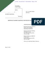 2014-05-28 (Doc 287) Martoma Sentencing Memo