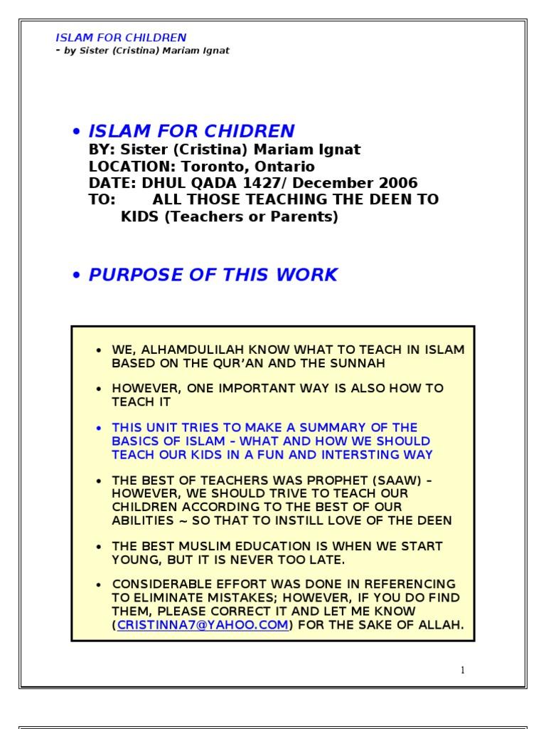 Islam for Children | Muhammad | Umar