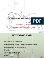 OPERACIONES UNITARIAS destilacion