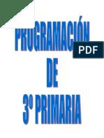 PROGRAMACIÓN 3º PRIMARIA