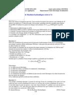 TD_Machines Hydrauliques_ Série N_ 1