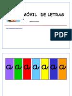 Libro Móvil de Letras Minúsculas. Color