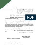 Projeto de Lei 026 - 05 Lei 472