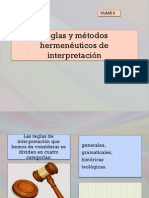 Reglas y Métodos Hermenéuticos de Interpretación