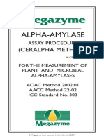 Alpha-Amylase Assay Procedure (Ceralpha Method) for the Measurement of Plant and Microbial Alpha-Amylases