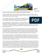 Metro Transit 2010 Green Line Press Release on travel time