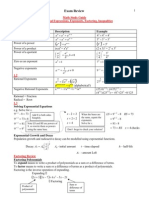 Full Course Review Grade 11 Functions Math