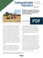 Adubacao de Enxofre Para a Cultura Do Milho Sob Plantio Convencional e Direto Em Solo de Cerrado