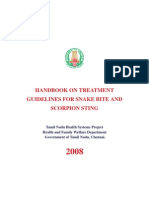 HANDBOOK ON TREATMENT GUIDELINES FOR SNAKE BITE AND SCORPION STING 2008 - TNHSP PUBLICATION