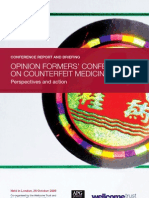 Opinion formers' Conference on Counterfeit Medicines