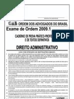 Exame OAB 2009-1 Prova Prático Profissional - Direito Administrativo