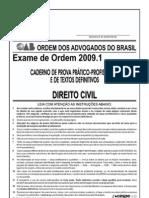 Exame OAB 2009-1 Prova Prático Profissional - Direito Civil