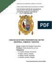 Analisis Financiero Del Sector Industrial, Comercio y Servicio