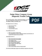 Dodge Ram Fault Codes