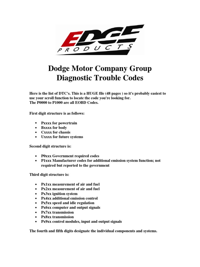 Dodge Ram Fault Codes | Computing And Information Technology